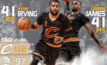 Irving y LeBron hacen historia con 82 puntos entre los dos:41+41