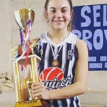 La jugadora alvearense Mercedes Fortain Fue convocada a la selección de básquet mayores de Olavarría
