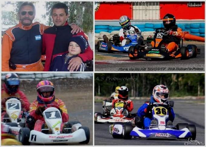 Dupla explosiva: Simonetti – Olasagaste  para la carrera de invitados del Karting de Apakart