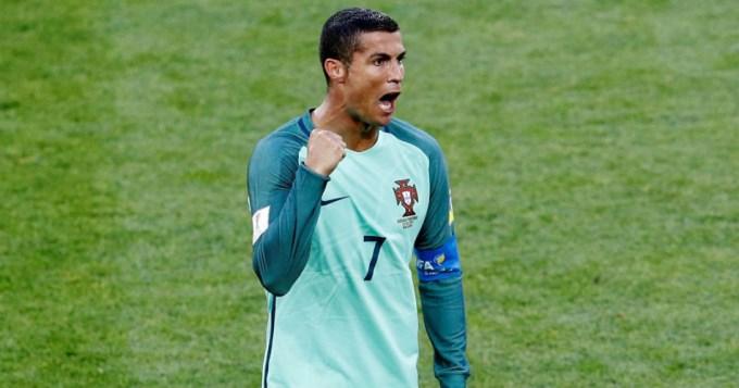 Portugal bajó al local con uno de Cristiano