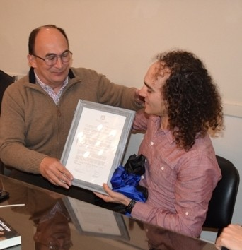 El atleta Jorge Castillo fue recibido por el Intendente
