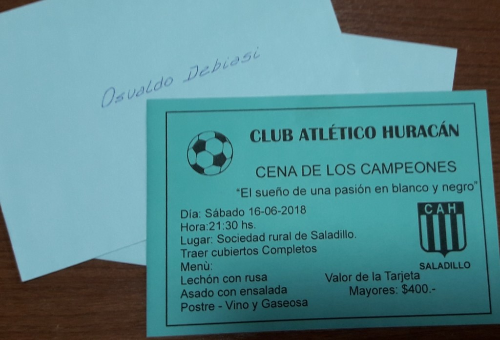Huracán festeja con una cena el ascenso al Torneo Regional Amateur