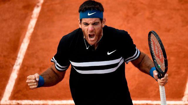 Del Potro se metió en Cuartos de Final de Roland Garros