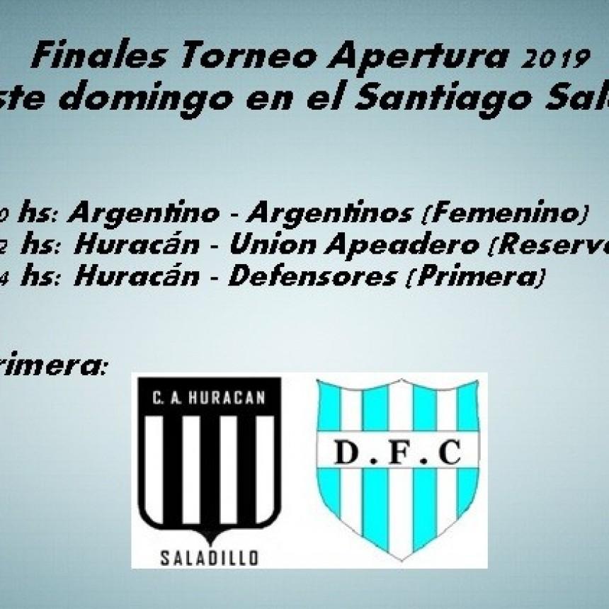 Este domingo arrancan las finales del Torneo Apertura 2019
