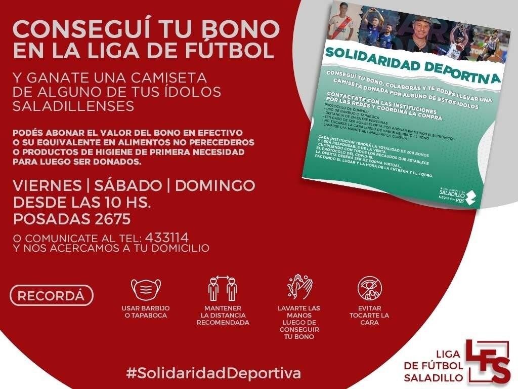 Colecta Solidaria Liga de Fútbol de Saladillo
