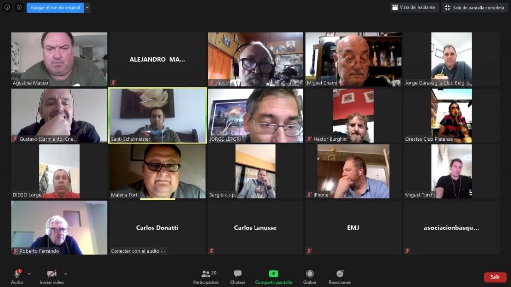 Básquet: Positiva reunión virtual por la continuidad del Provincial de Clubes