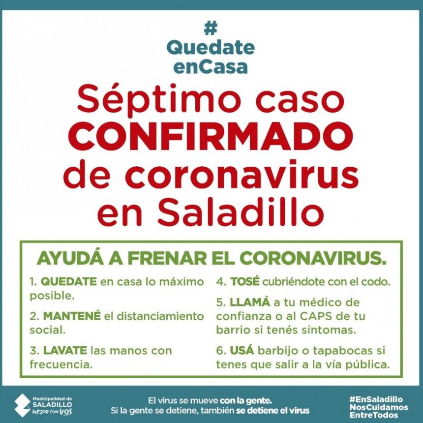 SALADILLO: PARTE DIARIO POR CORONAVIRUS 06/06/2020