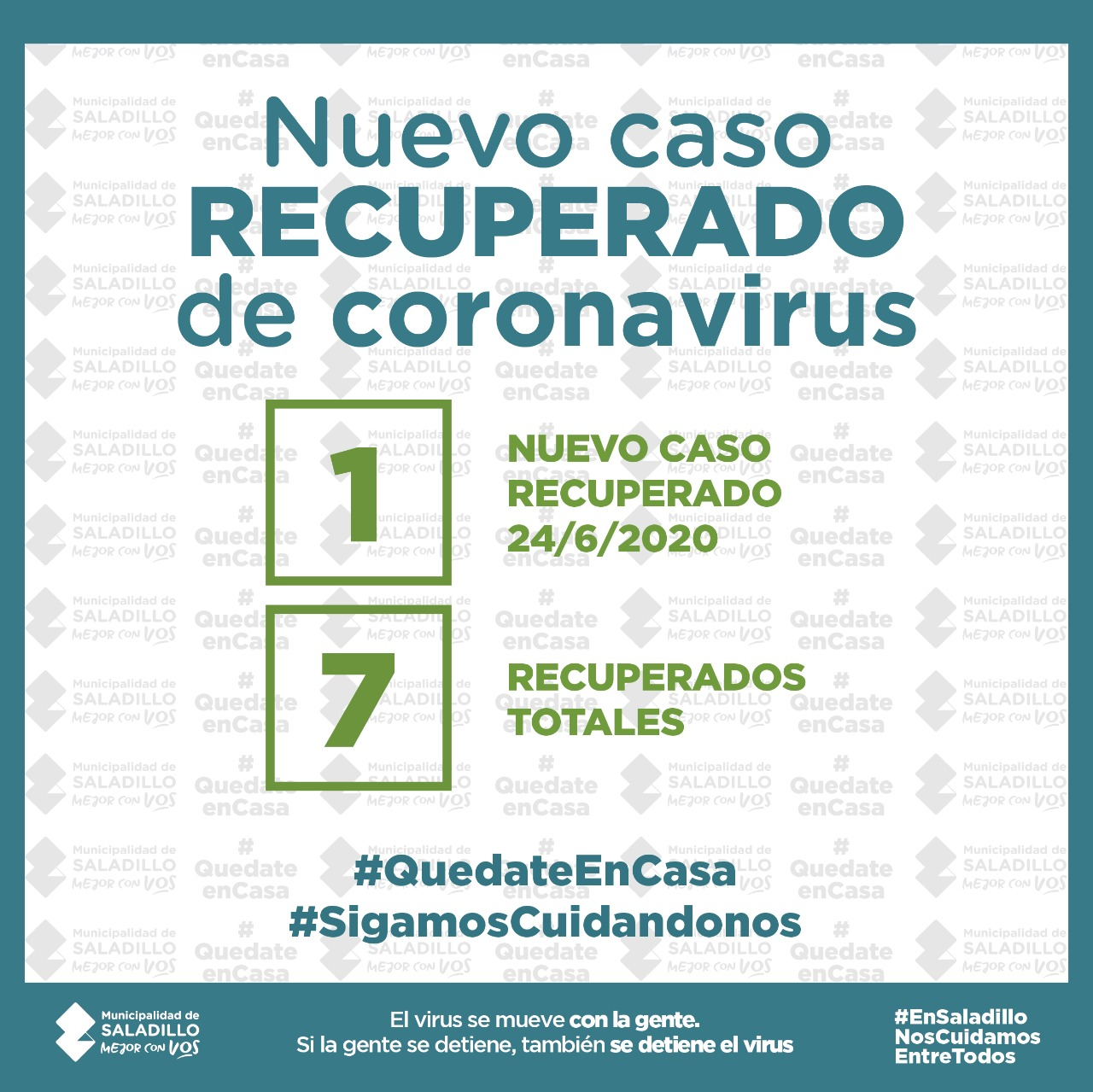 SALADILLO: NUEVO CASO RECUPERADO DE CORONAVIRUS