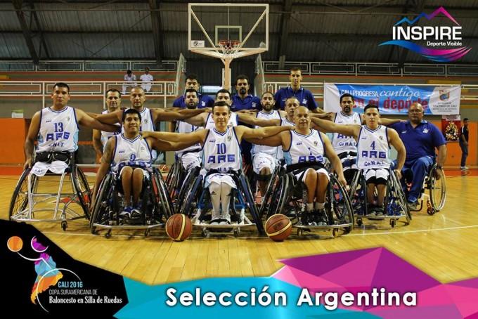Argentina en la final del Sudamericano de básquet sobre sillas de ruedas