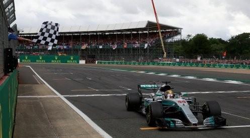 Victoria de Hamilton en Silverstone