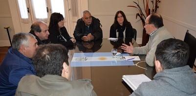 Salomón se reunió con autoridades del Club Apeadero