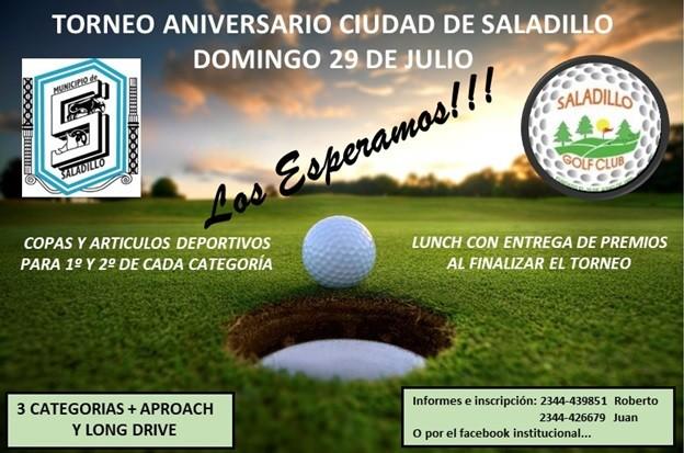 Se juega el Torneo Aniversario en el Saladillo Golf