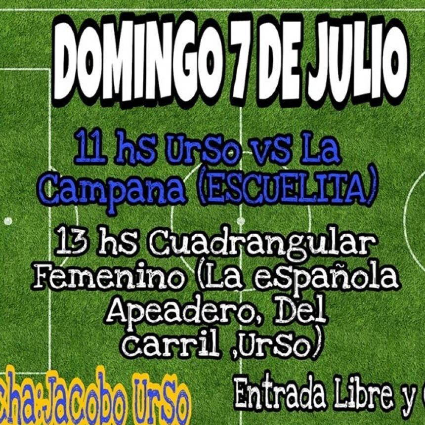 Este domingo Cuadrangular de Fútbol Femenino en Urso