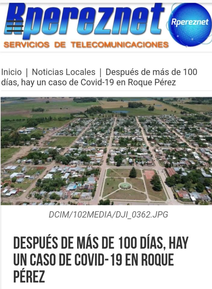 Después de más de 100 días, hay un caso de Covid-19 en Roque Pérez