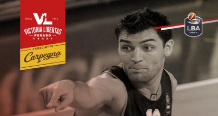 Carlos Delfino, nuevo jugador del Pesaro de Italia