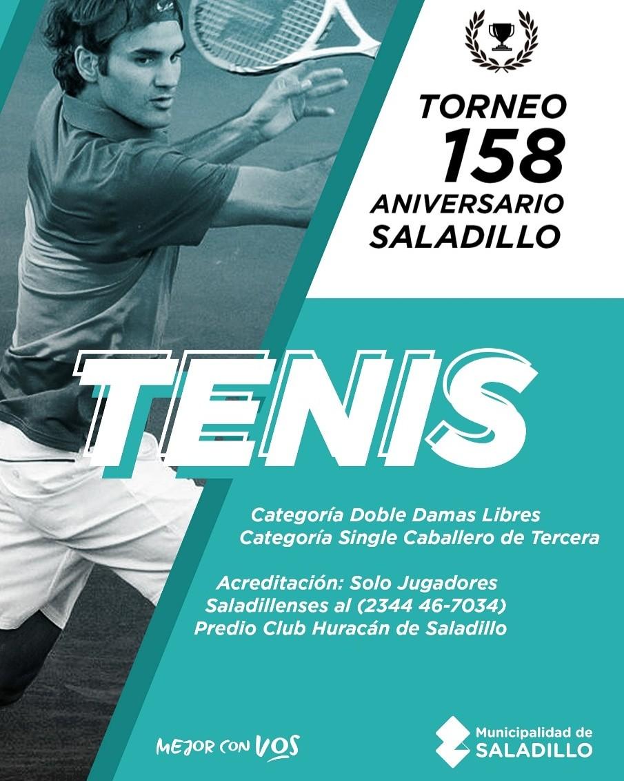 Torneo de Tenis en el 158º aniversario de Saladillo
