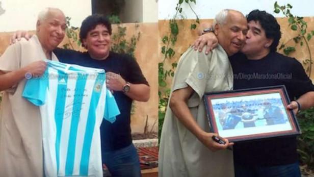 Diego Maradona se encontró con el árbitro de