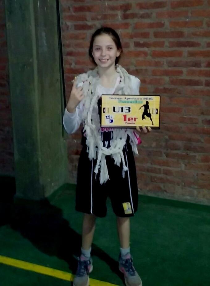 Belen Rojas se consagro campeona en sub13 con un equipo de Alvear