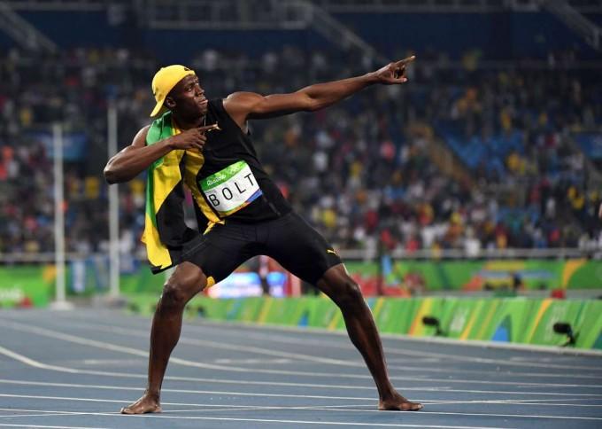 Usain Bolt, tricampeón olímpico de 100 metros