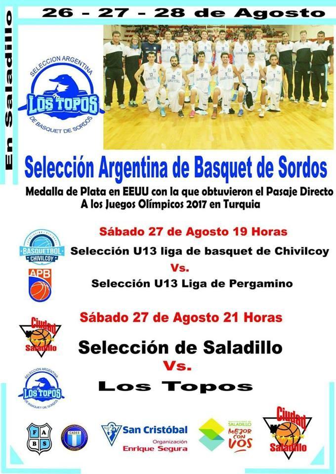 Selección Argentina de Sordos enfrenta al primer equipo de Ciudad de Saladillo