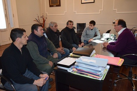 El Intendente se reunió con la comisión del Club de Pesca