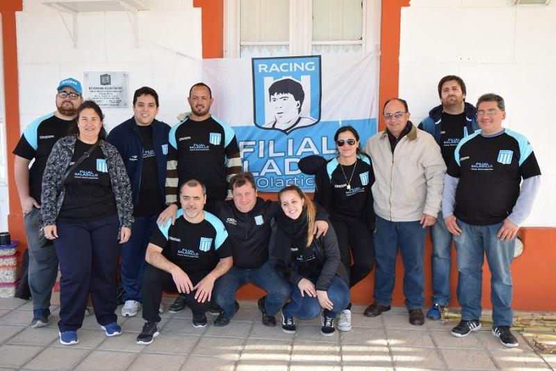 Salomón conversó con integrantes de la Filial local de Racing Club