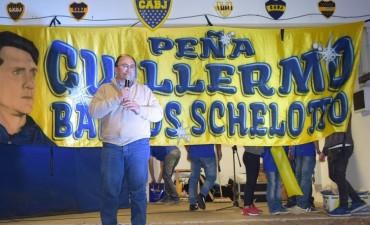 Salomón participó de la cena de la Peña de Boca Barros Schelotto
