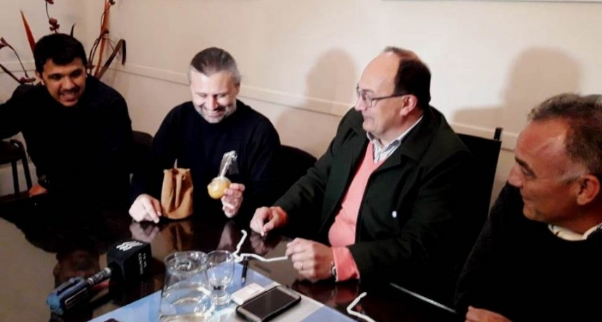Marcos Di Palma y Eduardo Barragán estuvieron en Saladillo