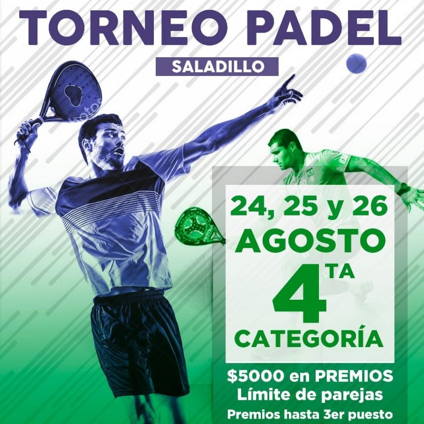 Gran Torneo de Padel en Saladillo para 4ta. categoría