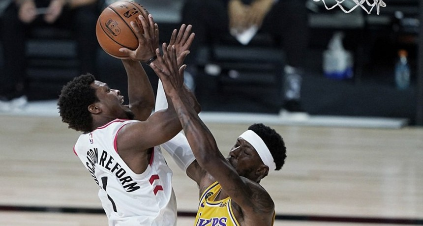 Los Raptors muestran a los Lakers la chapa de campeón