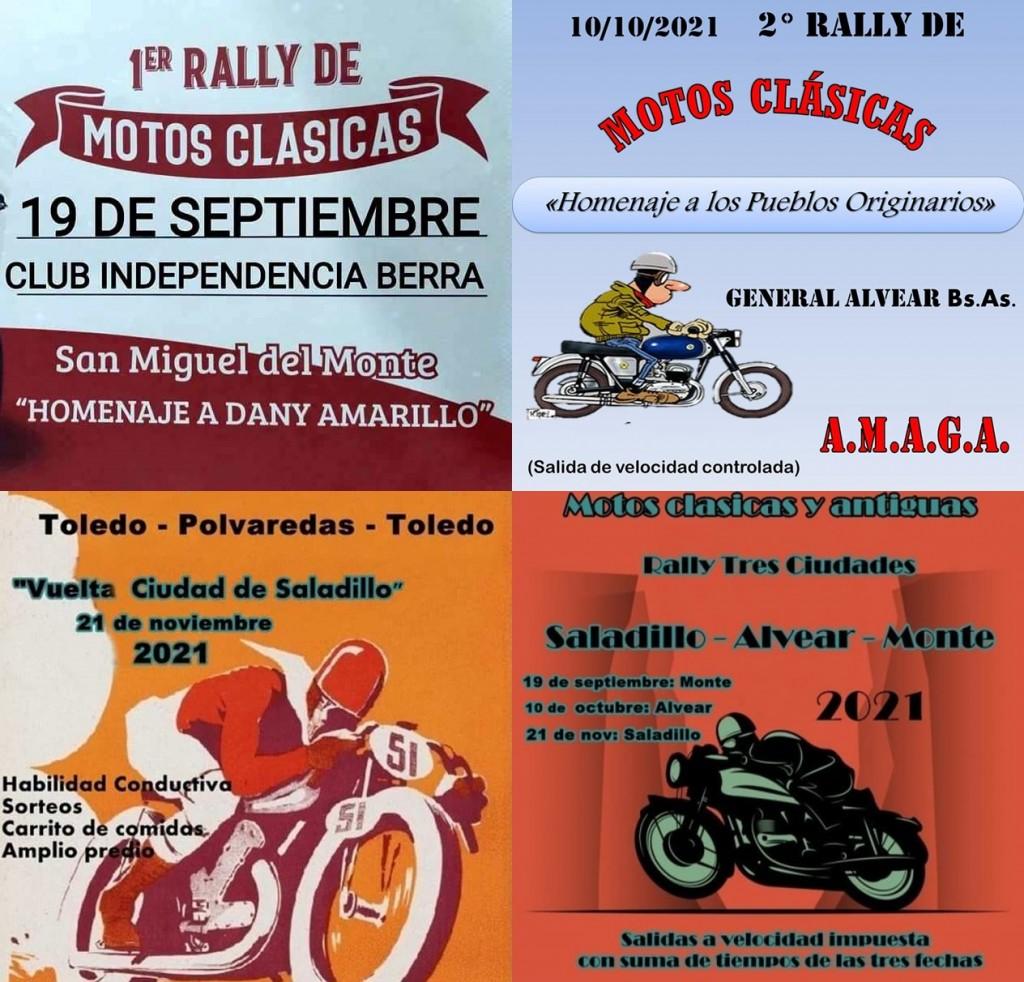 """""""Tres Ciudades"""": Organizan salidas en Motos Clásicas y Antiguas"""
