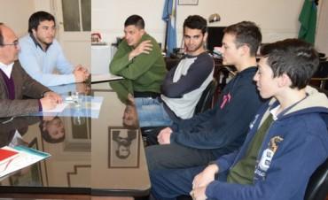 Jose Luis Salomón recibió a Santiago Mazza y Lucas Ruiz