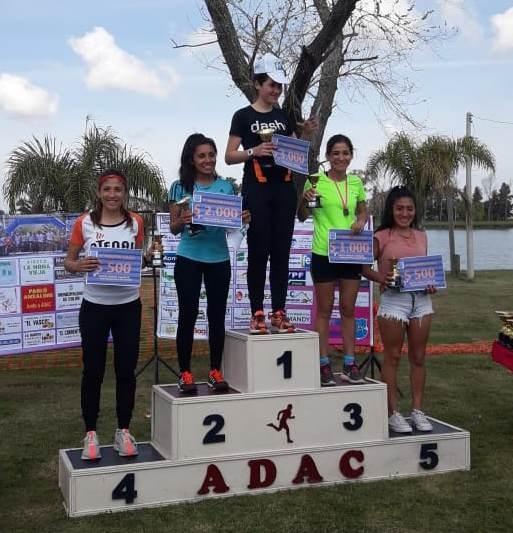 Francisca Almirón fue tercera en los 8K de Colon