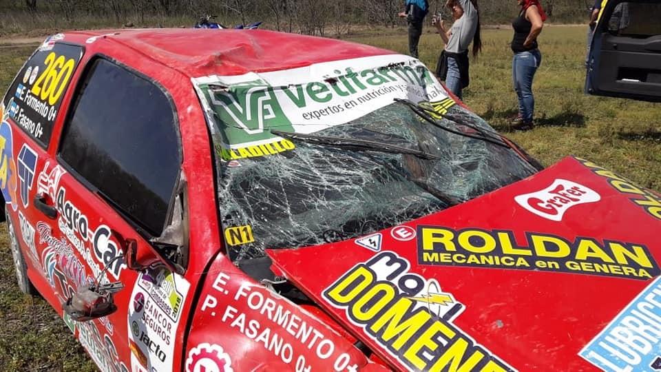 Accidente de Pablo Fasano en el Rally Federal