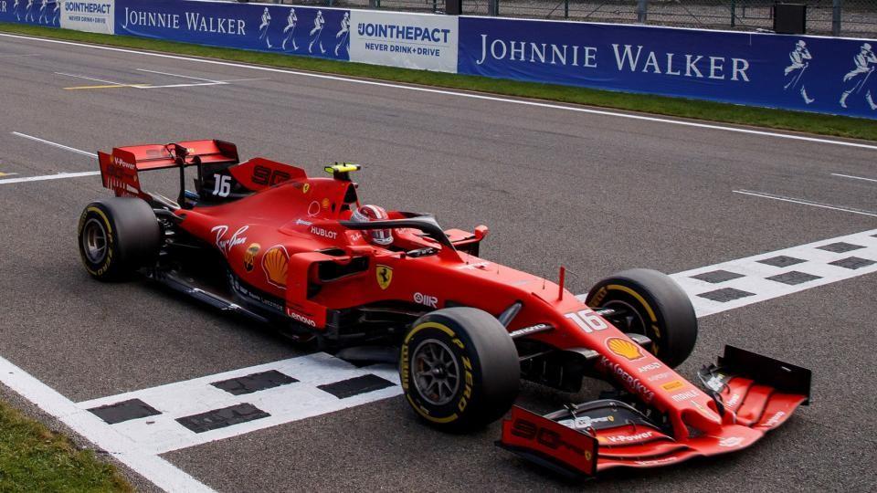 Leclerc logra su primera victoria en el Gran Premio de Bélgica
