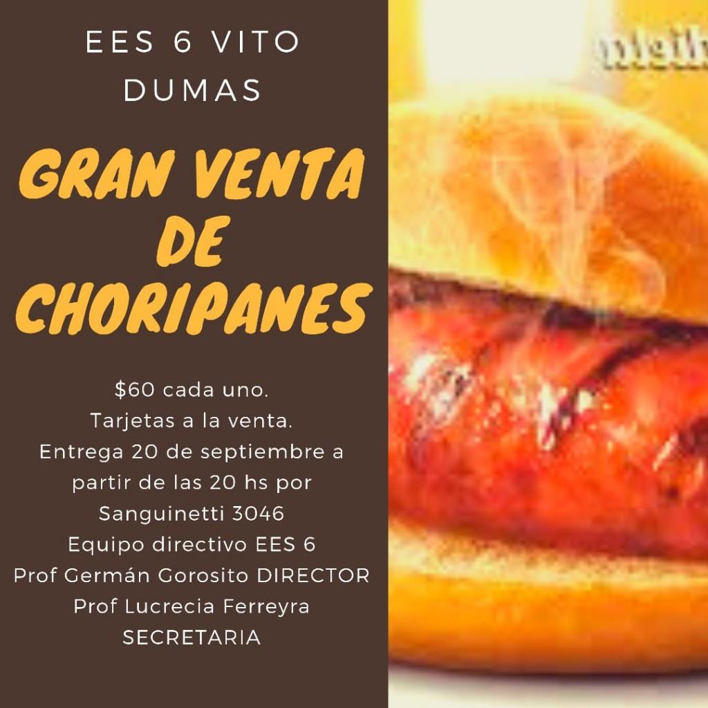 Gran venta de Choripanes en la EES N°6 de Saladillo
