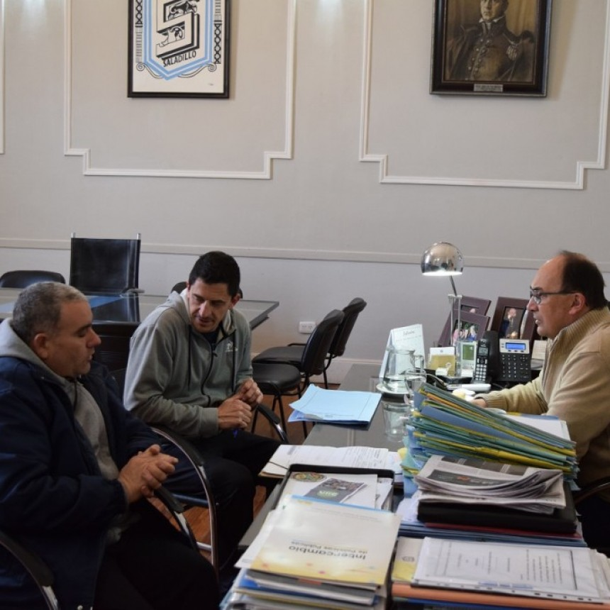 Salomón recibió a Villafañe, dirigente del Automóvil club