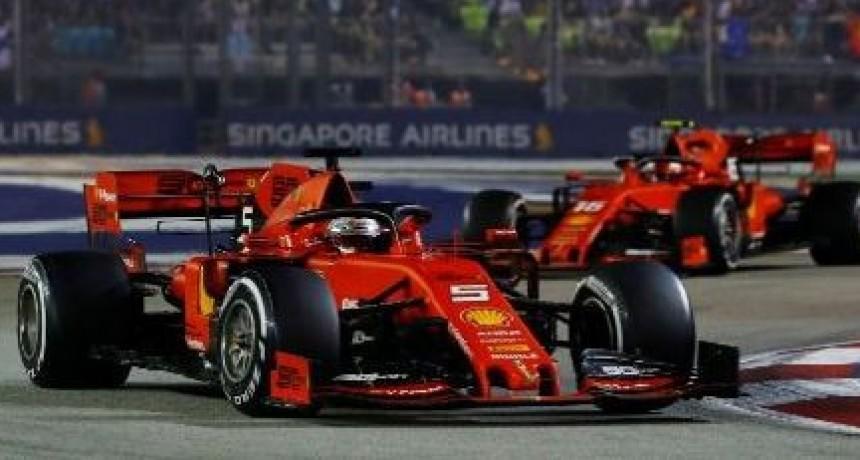Vettel vuelve a ganar en la F1 tras más de un año y Ferrari suma tres seguidas