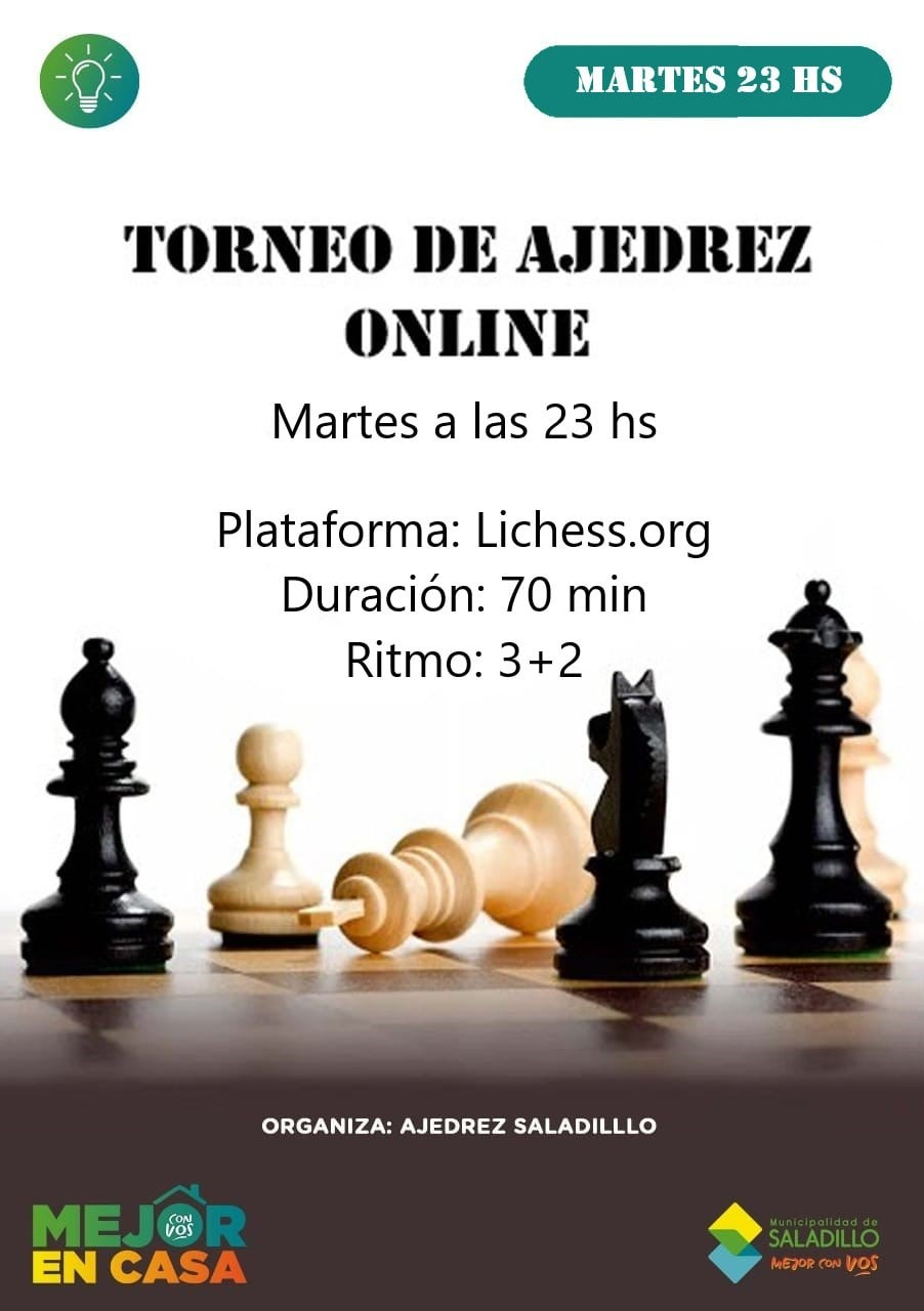 Nuevo certamen de Ajedrez Virtual en Saladillo