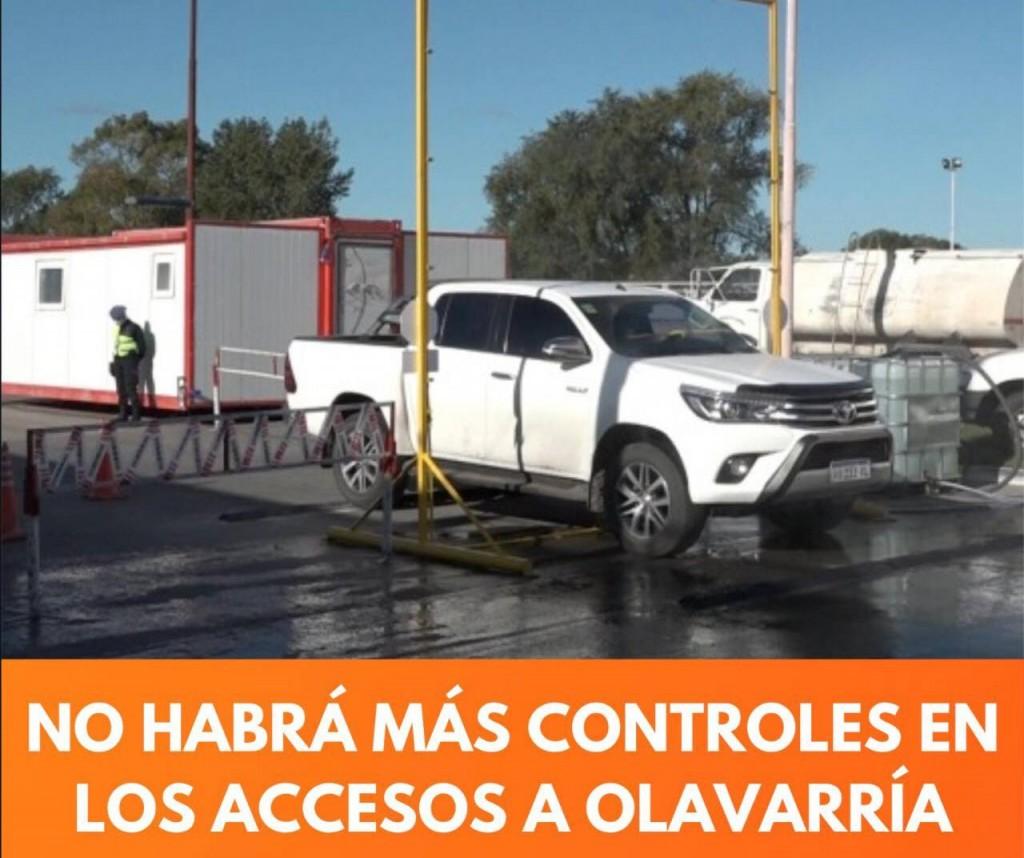 LEVANTAN LOS CONTROLES EN LOS ACCESOS A OLAVARRÍA
