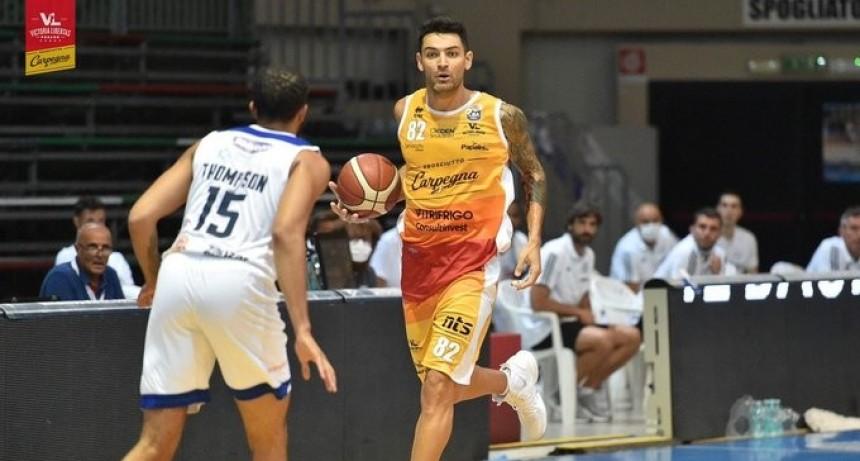 Carlos Delfino la rompió en su debut con Pesaro en Italia