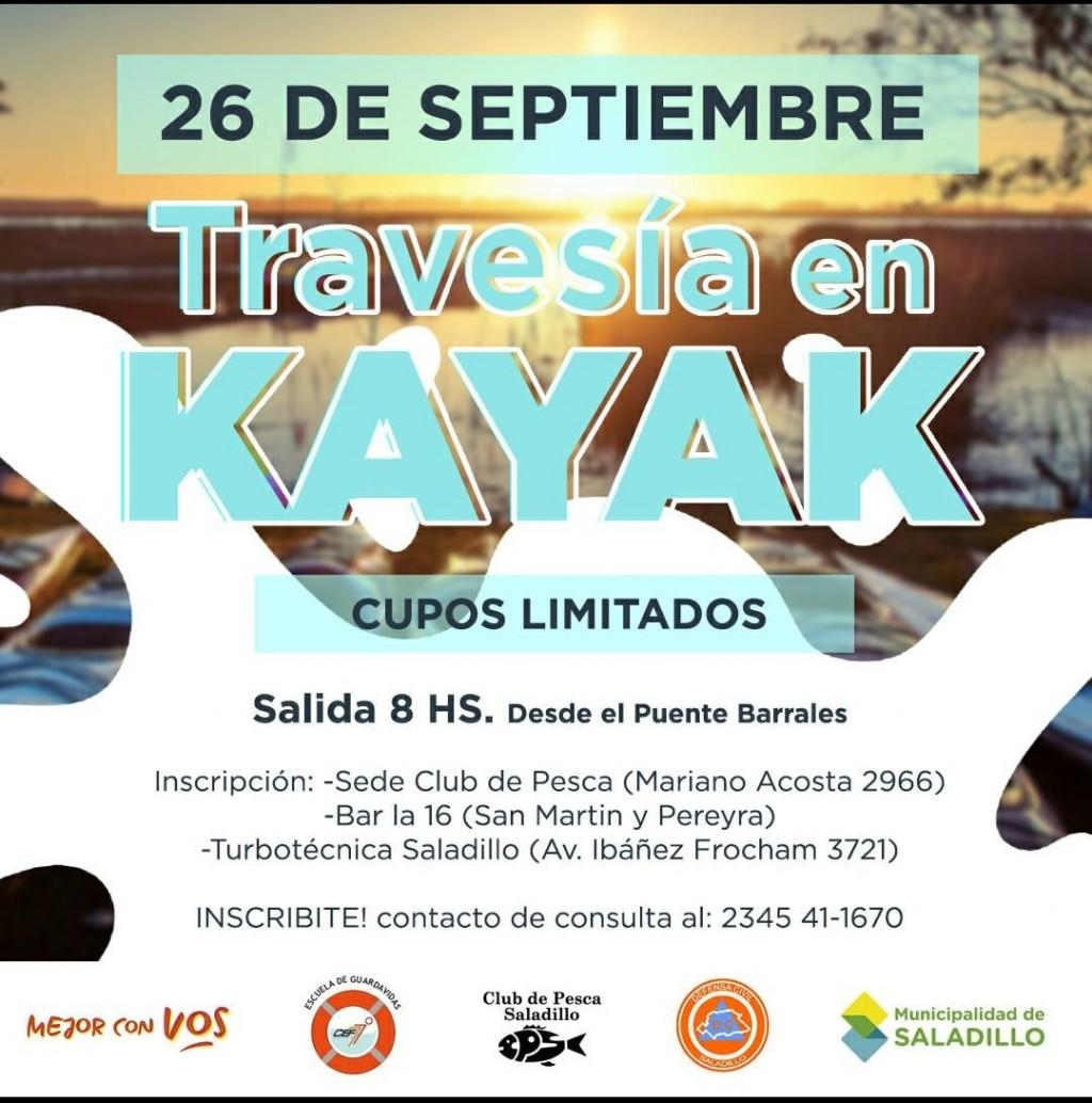 Travesía en Kayak: Para el 23 de septiembre en Saladillo