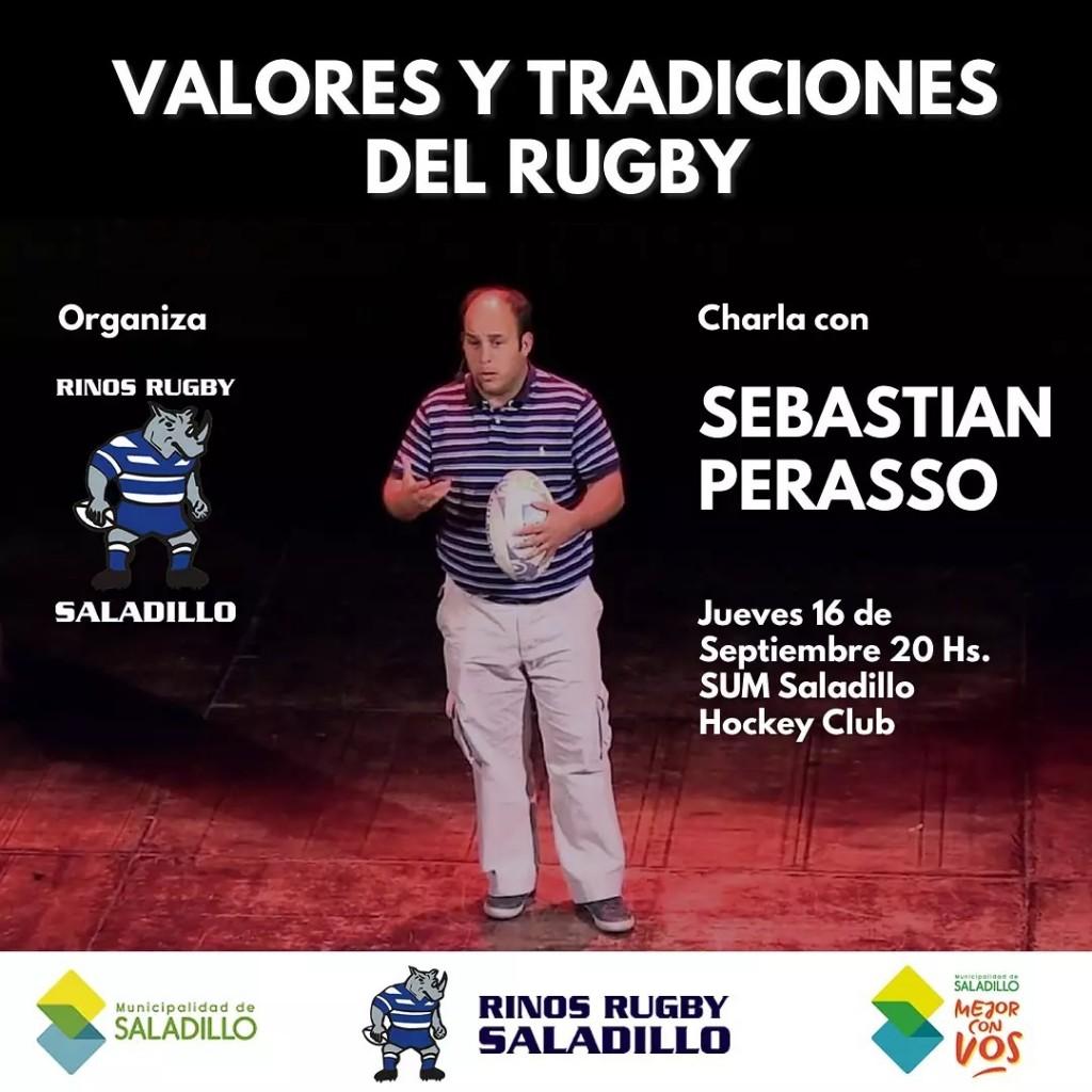 """""""Valores y Tradiciones del Rugby"""": Sebastián Perasso dará una charla en Saladillo"""