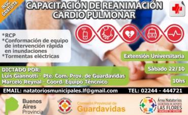 Capacitación de reanimación cardio pulmonar (RCP) en Las Flores