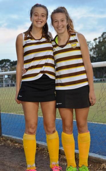 Martina Castellani y Candela Vega participaron del Torneo Nacional de Hockey