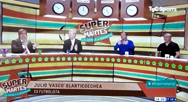 El Vasco Olarticoechea pasó por el programa Supermartes de TyC Sports