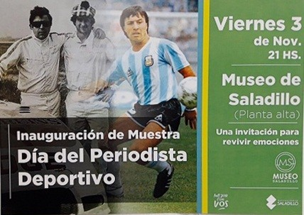 Muestra de Fotos y objetos por el Día del Periodista Deportivo en Saladillo