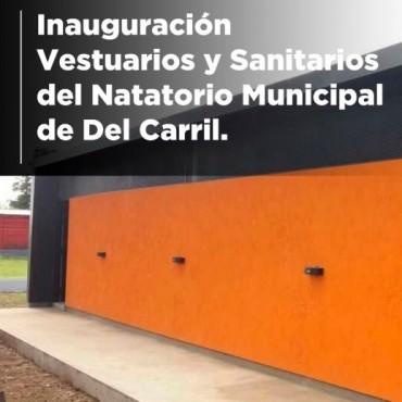Hoy se inauguran vestuarios y sanitarios del natatorio de Del Carril