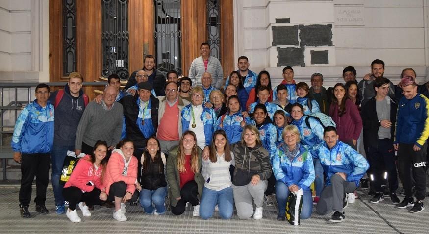 José Luis Salomón recibió a la delegación que viajó a Mar del Plata