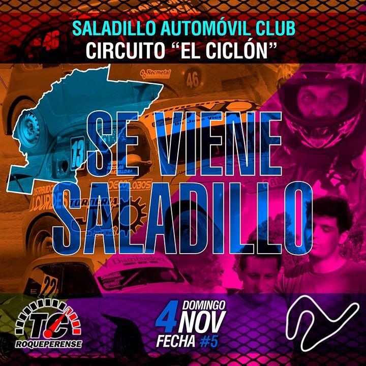 """Se corre la fecha 5 del TCR en """"El Ciclón"""" del Saladillo Automóvil club"""